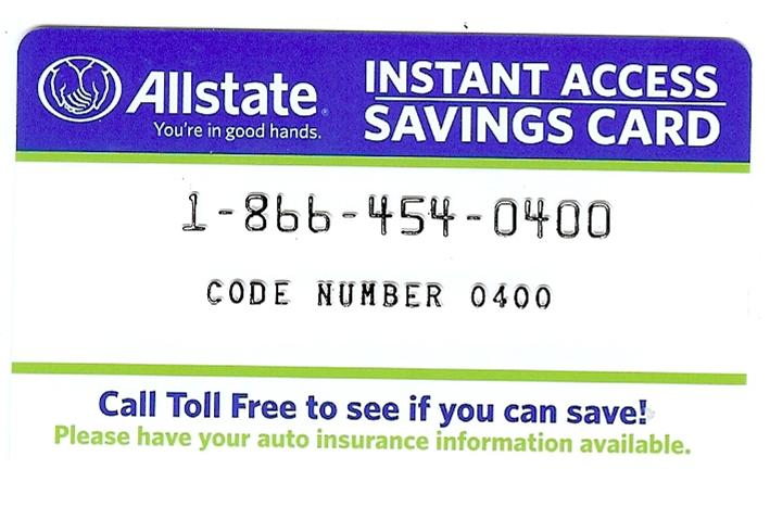 Junk Mail Card from Allstate