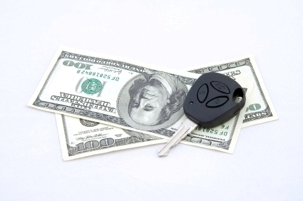 money and car key