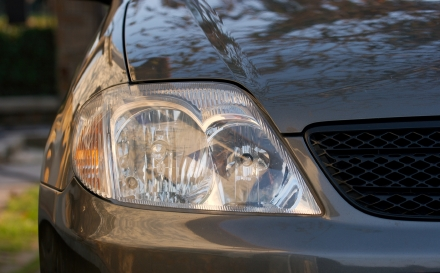 Headlight On Car
