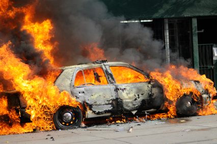 Burning Car Needs Property Damage Coverage