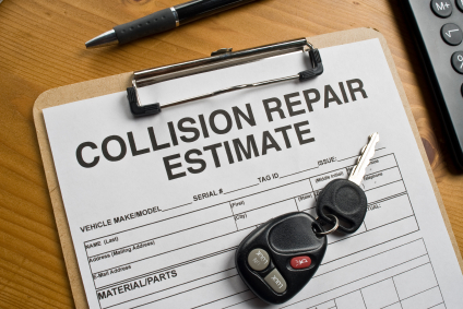 A Collision Repair Estimate for an Insurance Adjuster