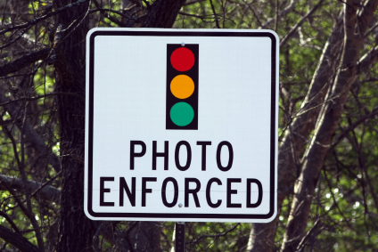 Sign Advising of Camera on Traffic Light