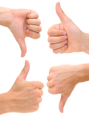 Giving a thumbs up or down to insurance companies through reviews