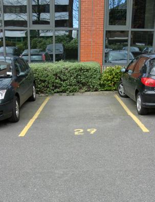 An Empty Space from a Stolen Car