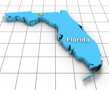 Map of Florida for Car Insurance