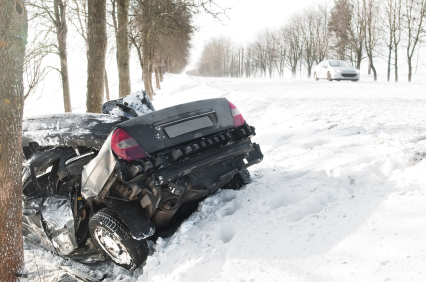 Even the best driver falls victim to winter driving conditions.