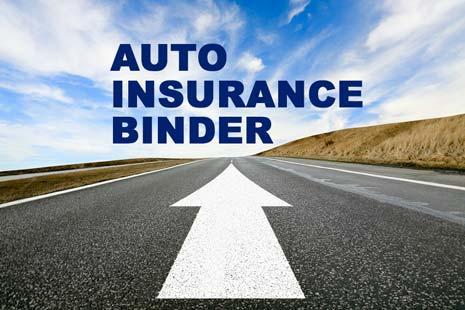 Auto Insurance Binder